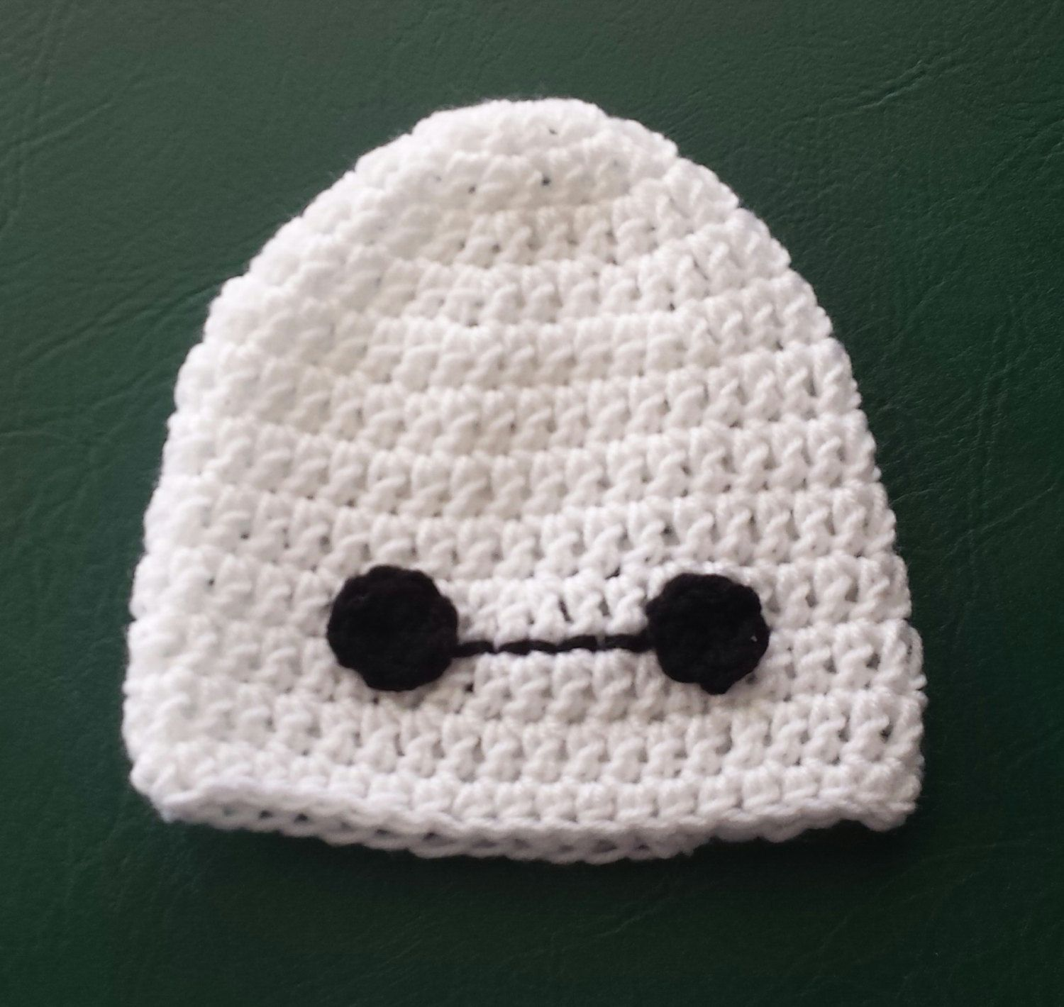 Crocheted Baymax inspired beanie from Big Hero 6 by KustomizedByKat on Etsy