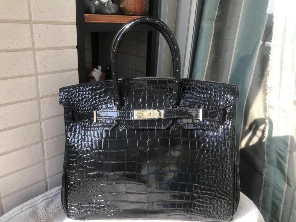 Women Cow Crocodile Leather Made In Korea Handbag Bag Satchel Bag