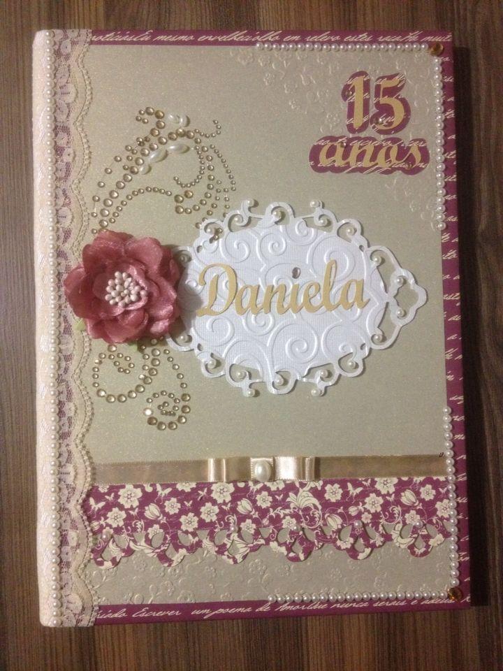 Caderno de felicitações - 15 anos