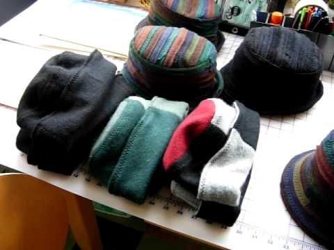 ed658222bf1 Making hats out of sweaters - YouTube great use of the materials ...