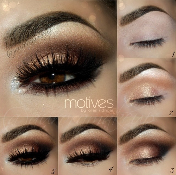 Step By Step Smokey Eye Makeup Tutorials … Ideias de
