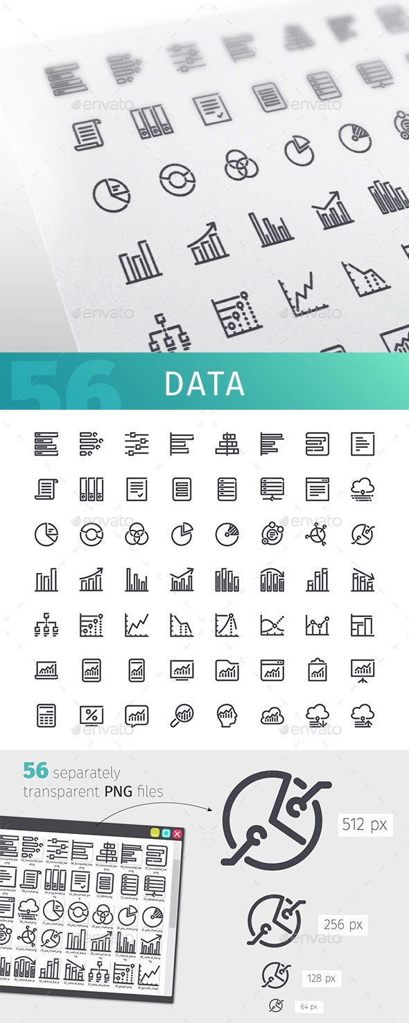 Data Line Icons Set Line Icon Business Icon Icon Set