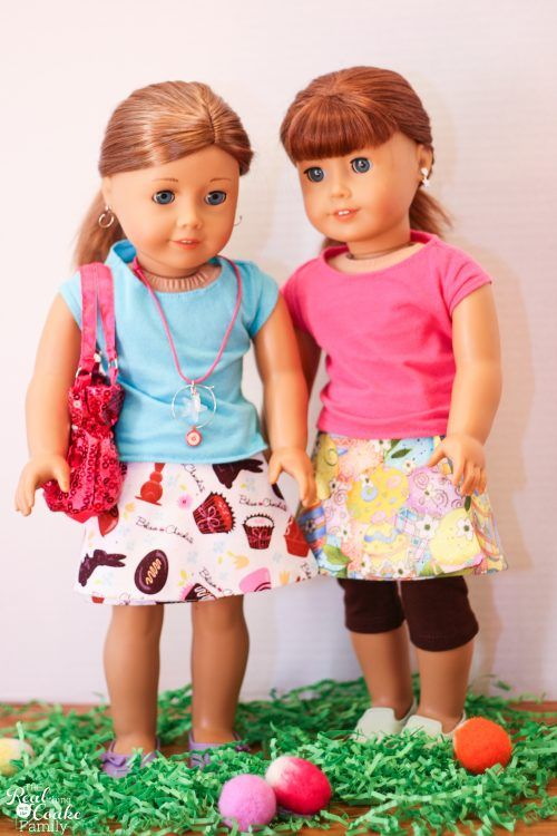 Free Doll Clothes Pattern To Make A Reversible Wrap Skirt Best