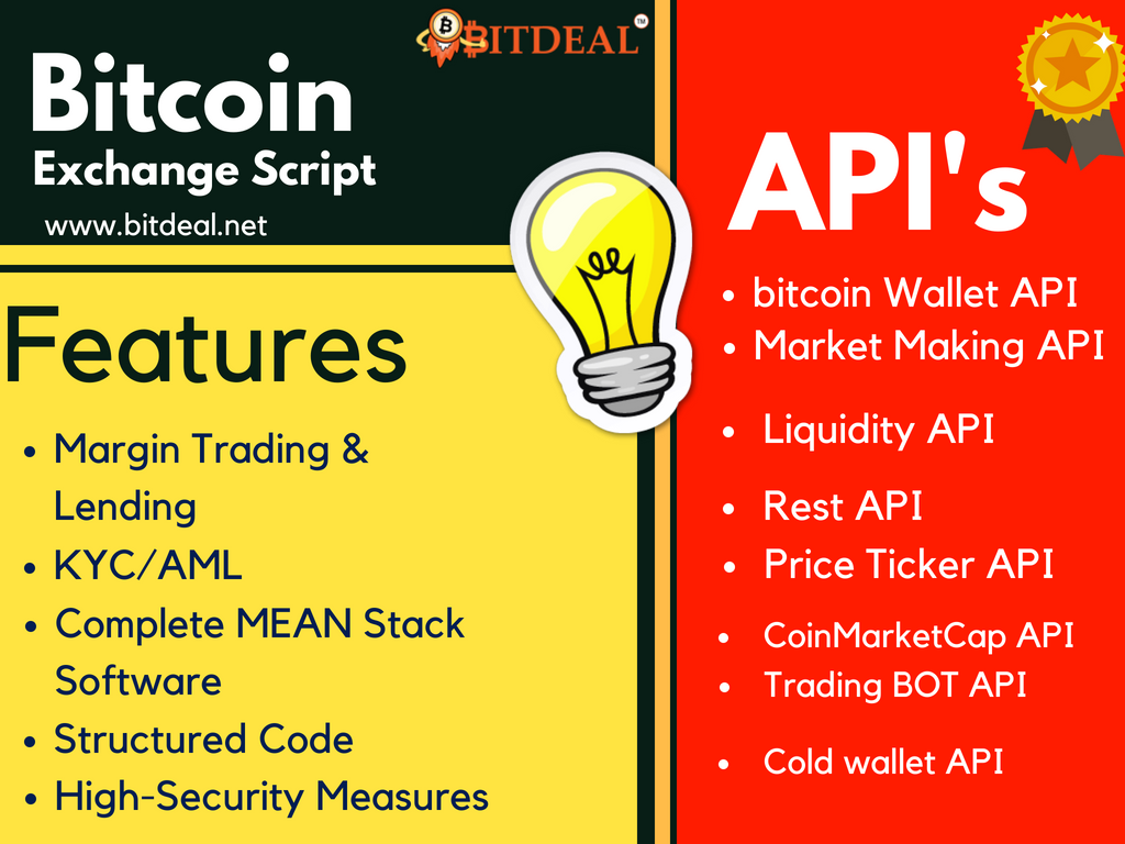 Bitcoin Exchange Source Code Api S And Plugins From Bitdeal Get