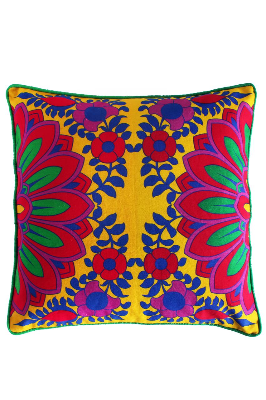 Fatfatiya yellow and contrasting cushion cover scarletbindicom