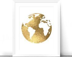 Gold world printable faux gold foil map globe by inkitprintables gold world printable faux gold foil map globe by inkitprintables gumiabroncs Image collections