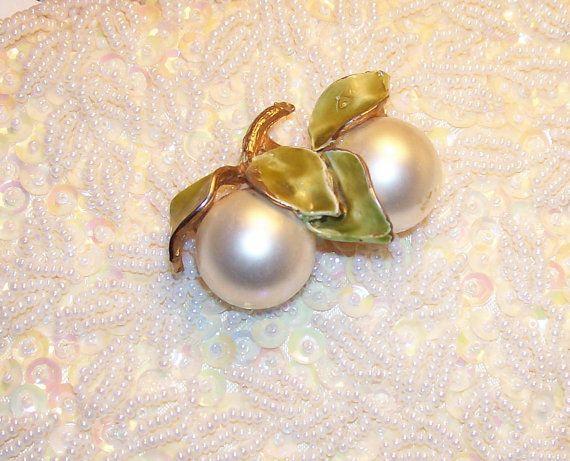silver apples of the moon brooch by niddiebone, $14.00