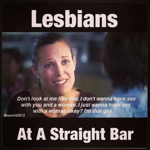 lesbians at a straight bar
