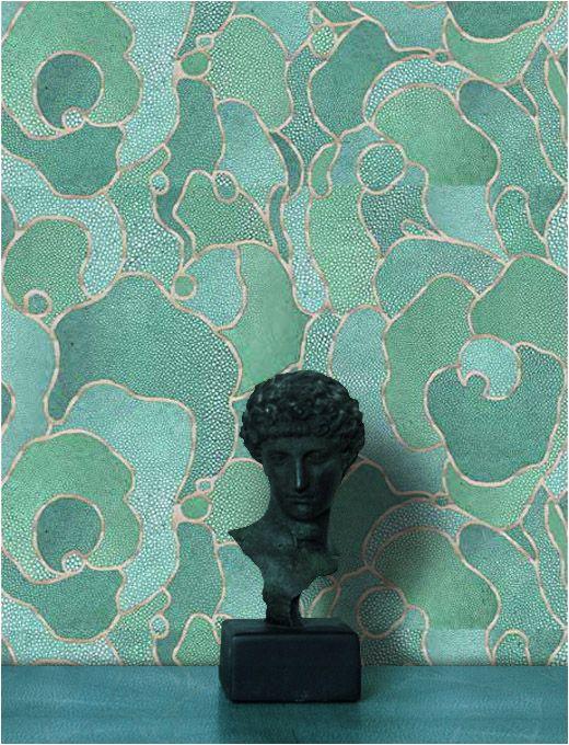 Shagreen Wallpaper Please Green Wallpaper Modern