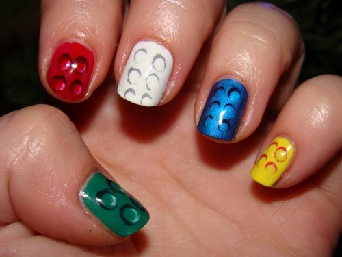 Fun Nail Designs Tips Color Nails Inspiration They Look Like Legos