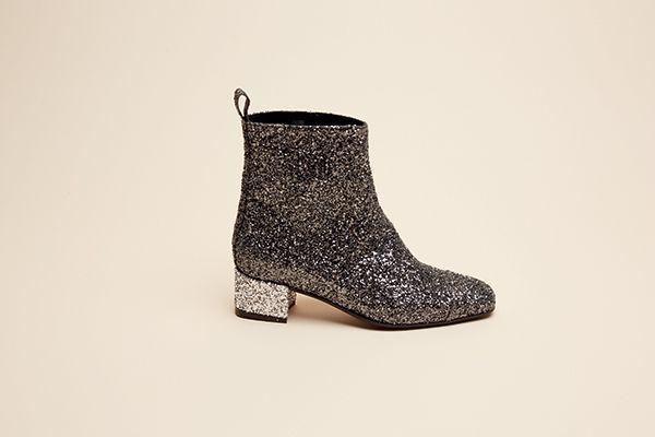 CAREL, Bottine Estime glitter gris #LeBonMarche #TBM #mode #fashion #femme #women #homme #men #maison #home #enfants #kids