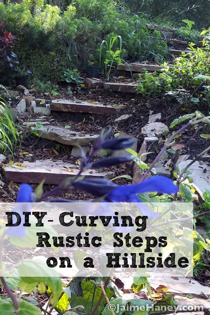 Diy Carve Rustic Steps That Curve On A Hillside My