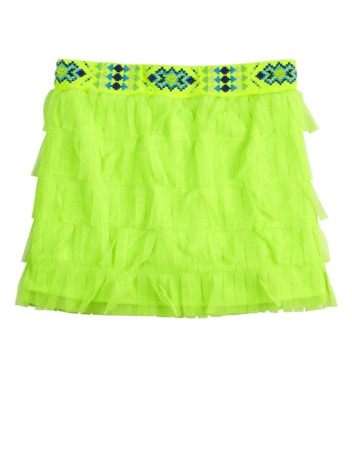 Justice Clothes for Girls Outlet | Girls Clothing | Skirts u0026 Skorts | Neon Fringe ... | Justice ...
