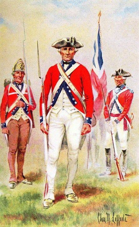 De Lancey's Brigade, 1776 - 1783. A Loyalist unit of 3 battalions ...