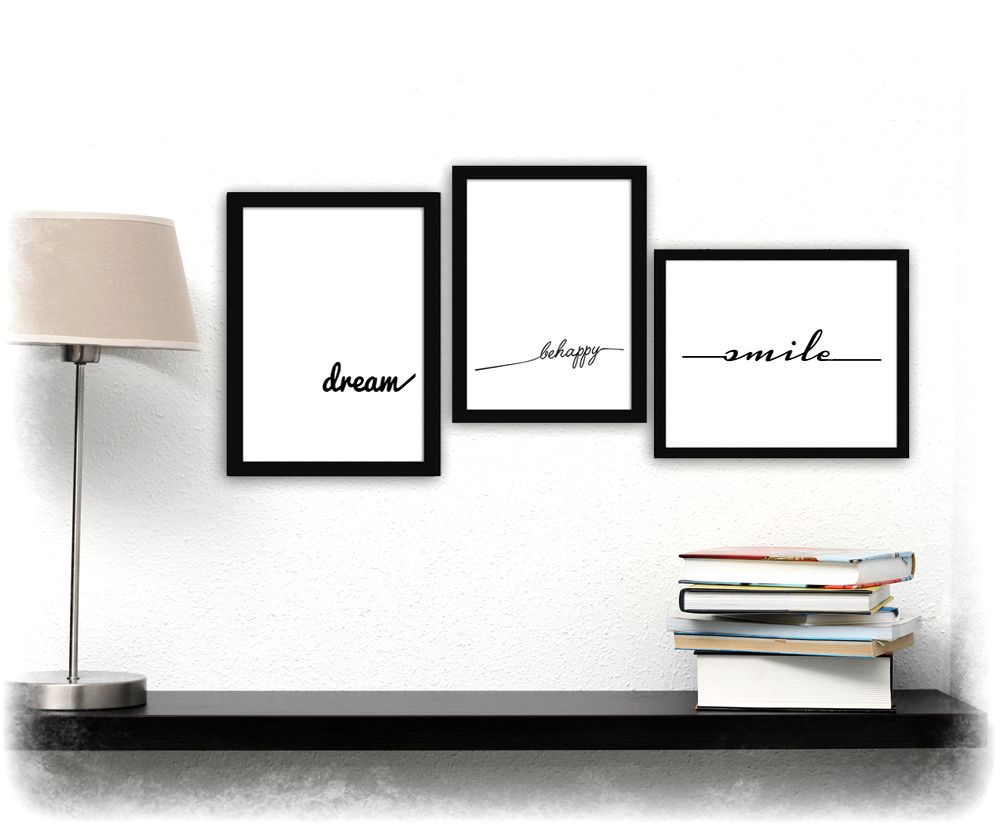plakaty na ścianę z napisami do sypialni