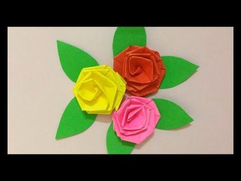 How To Make Small Rose Paper Flower Easy Origami Flowers For Beginners Making Diy Paper Craft Paper Flowers Paper Origami Flowers Origami Flowers