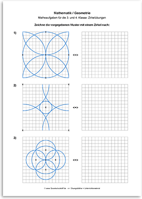 Download => Geometrie => Zirkelübungen (1) | Schule | Pinterest ...