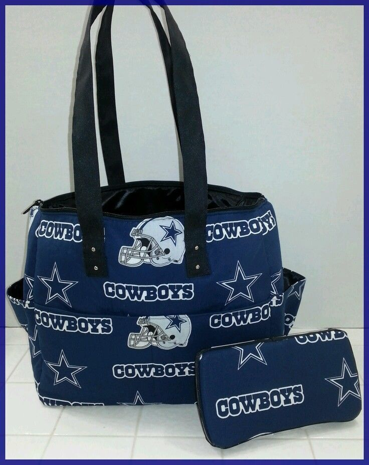Dallas Cowboys Diaper Bag Wipe Case Tote Handmade