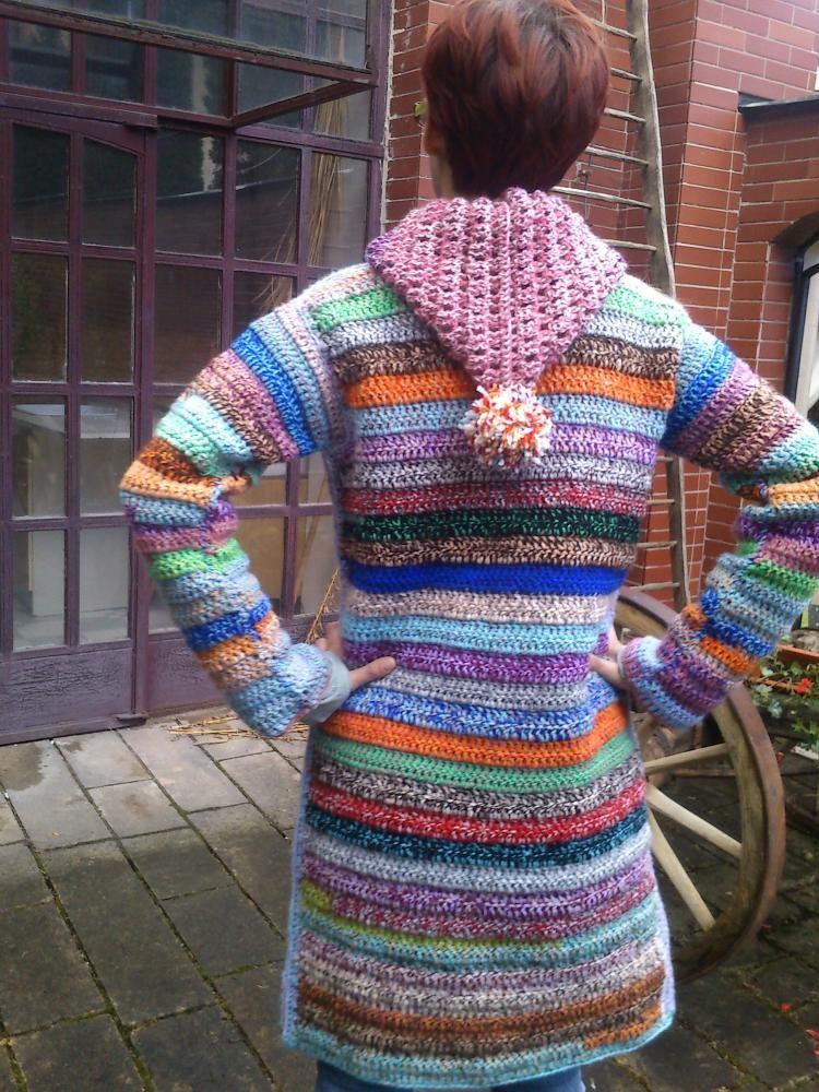 Awesome crochet sweater jacket - no pattern. Svetre/Pulóvre - kabátik