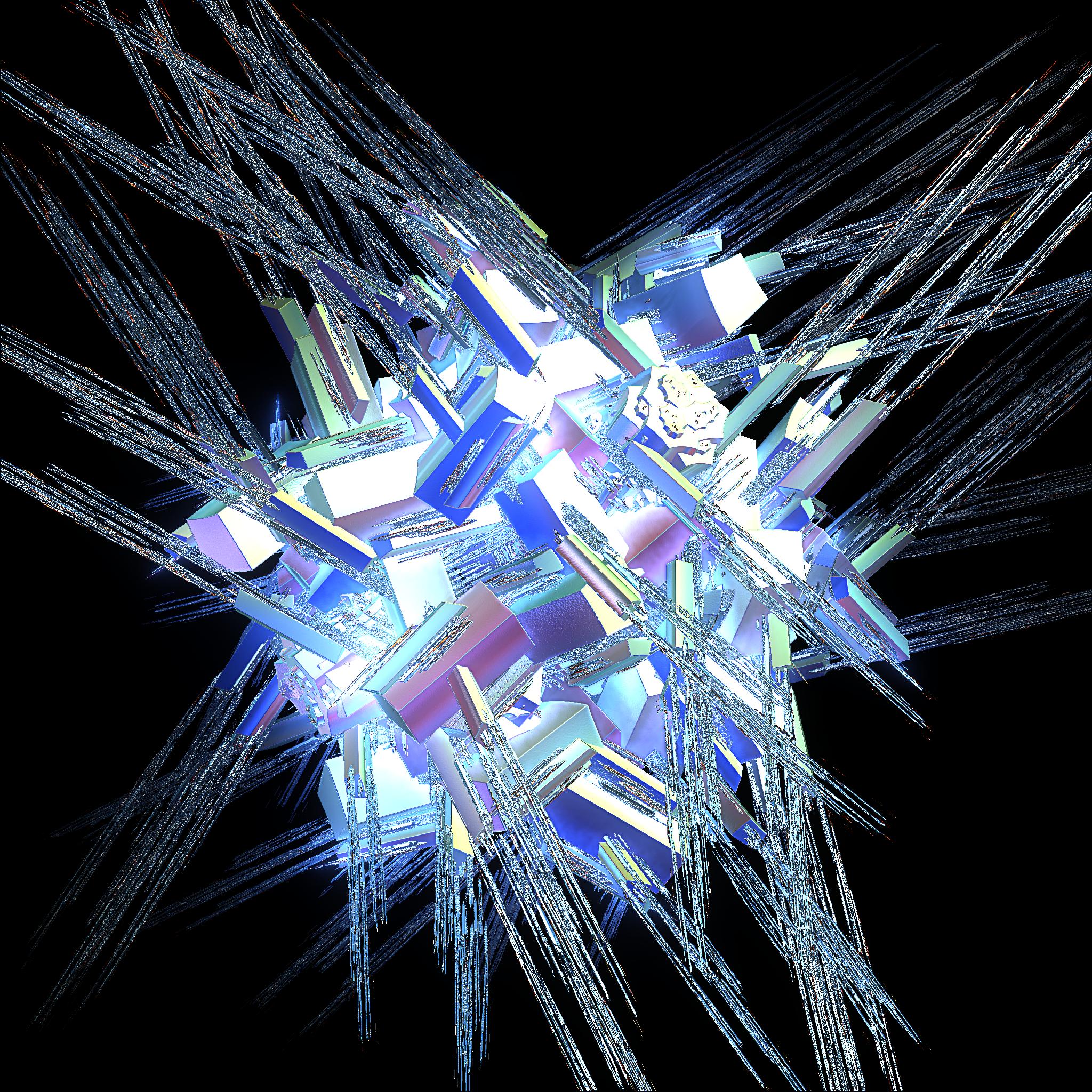 Fractal Pendant Lights: Crystals By Jahpickney Digital Art