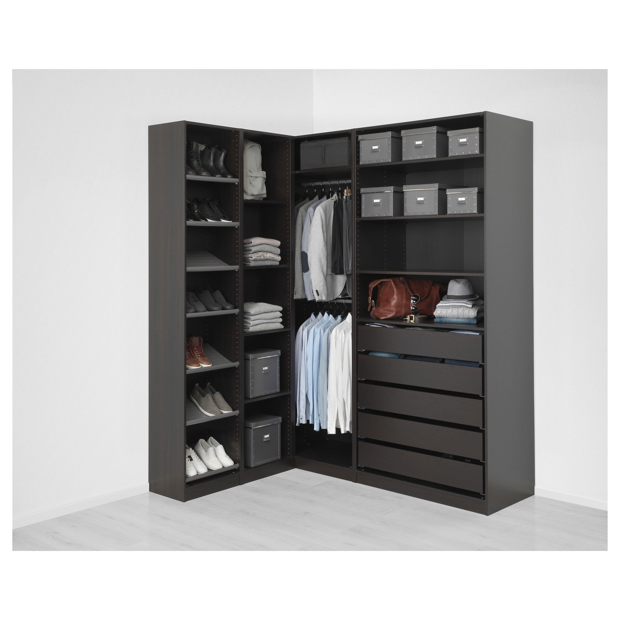 Pax Corner Wardrobe Black Brown 63 1 8 73 7 8x93 1 8 Ikea Corner Wardrobe Pax Corner Wardrobe Ikea Pax Corner Wardrobe