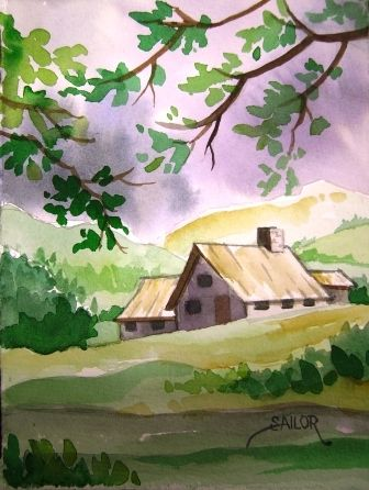 Simple Watercolor Landscape Watercolor Paintings Easy Easy