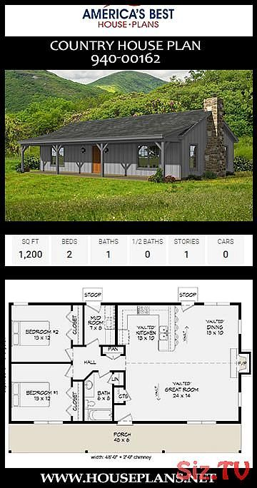 Country House Plan 94000162 Country House Plan 94000162 America s Best House Plans Save Images America s Best House Plans A 1story Country house Plan 94000162 offers 1200...