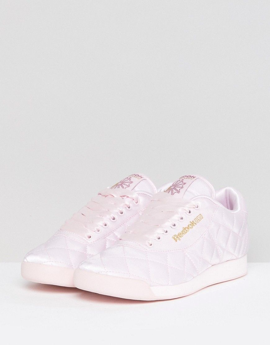 0b635ef102dba ASOS WHITE x Reebok Princess Sneakers In Quilted Satin - Pink