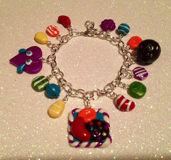 Polymer Clay Charm Bracelet: To US Polymer Clay Candy Crush Saga Charm Bracelet