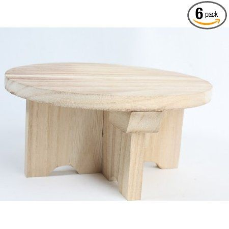 Amazon.com: Set Of 6 Unfinished Wooden Round Table Risers For Addingu2026 | New  York City Themed Party | Pinterest | Decorative Accents And Rounding