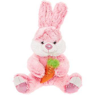 Pink Plush Bunny Toy