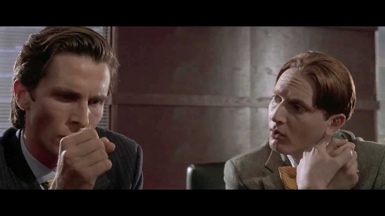 Video) - Guy replaces American Psycho business card scene with ...