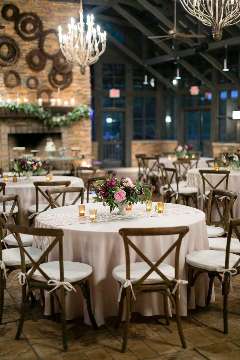 Purple & Champagne South Carolina Wedding Farmhouse