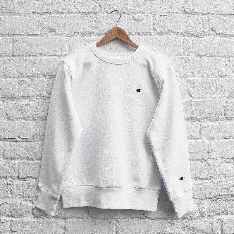 White Champion Sweatshirt | Fashion Ql