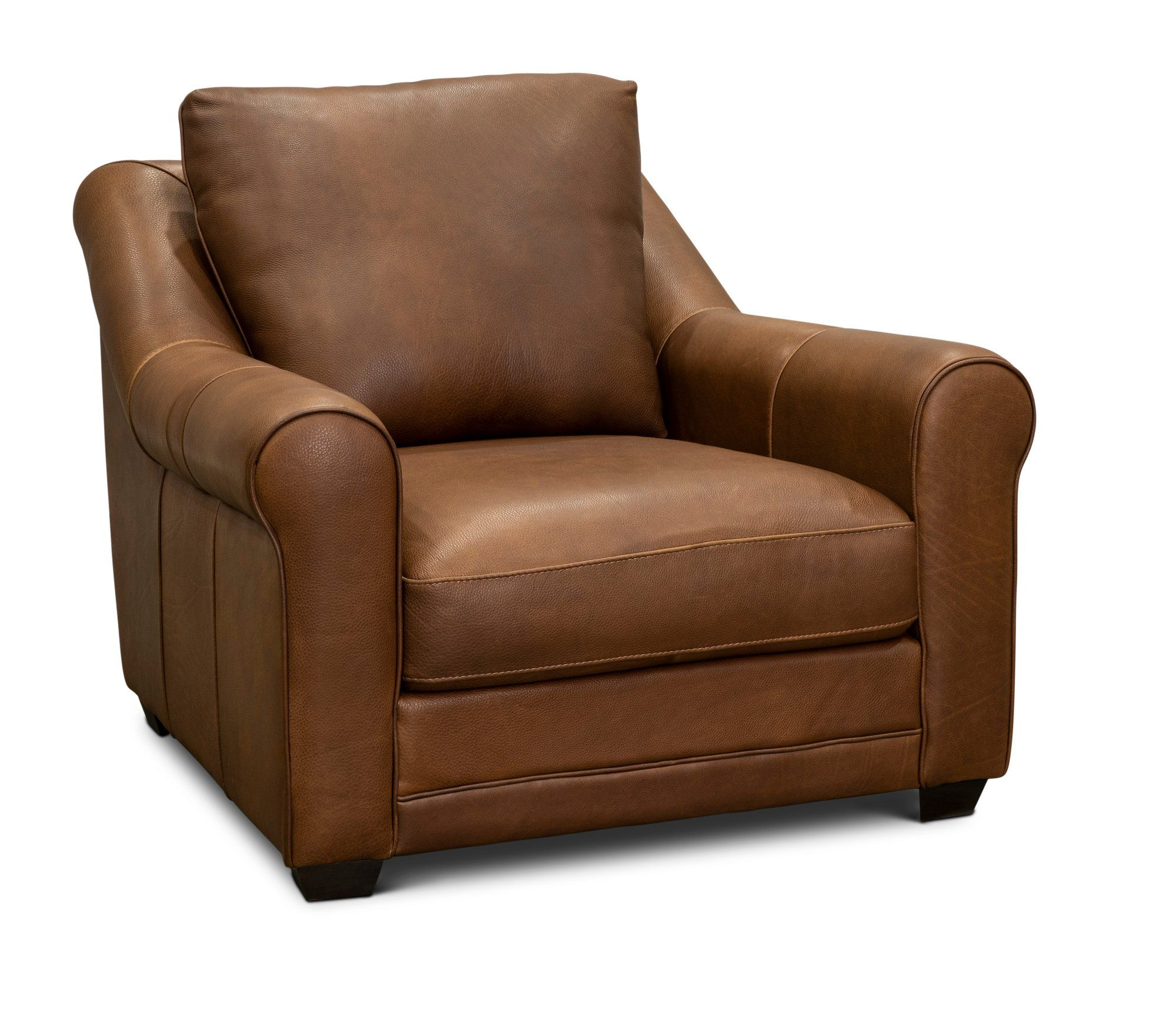 Contemporary Brown Leather Chair Panama In 2020 Brown Leather