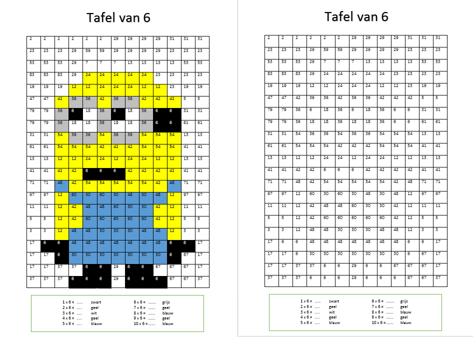 Pin Van Arlette Driessen Op Craft Rekenen Tafels Oefenen
