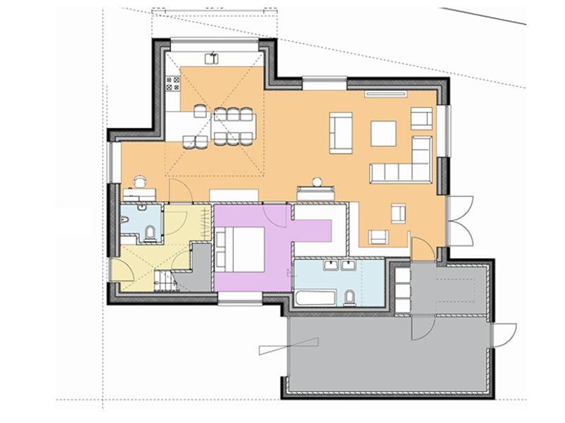 Afbeeldingsresultaat voor plattegrond schuurwoning met slaapkamer ...