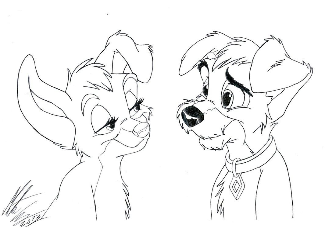 32+ Disney lady and the tramp coloring pages info