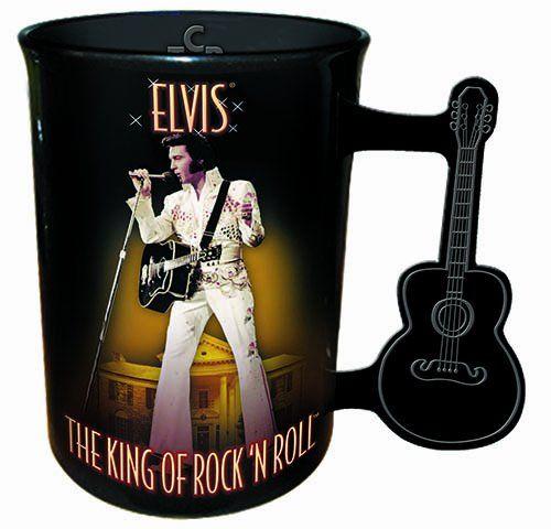 ca736db4b5f Elvis Presley Mug With Guitar Handle   Special odd Stuff   Elvis ...