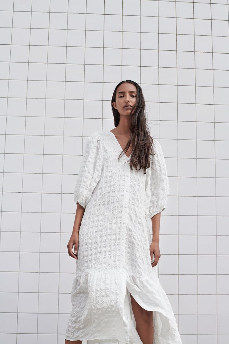 textured weave dress | zara united states | mode outfits