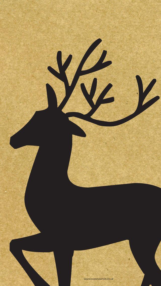 Reindeer Wallpaper Iphone Christmas Deer Wallpaper Holiday Wallpaper
