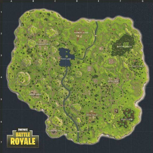 Fortnite Battle Royale Map Fortnite Cassettiere