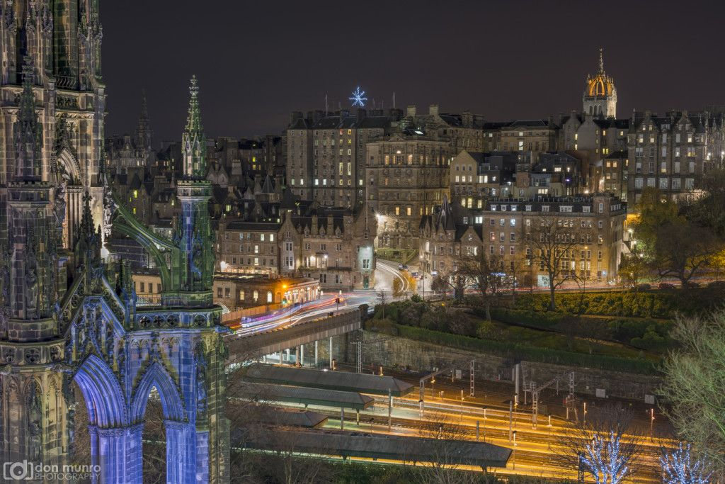 Scott Monument and the Old Town.