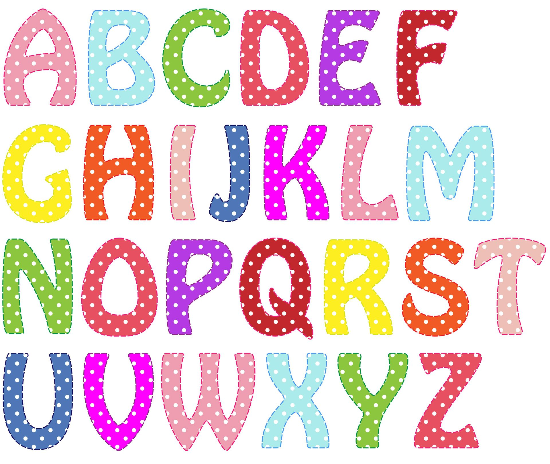 Alphabet Letters Bright Colors Alphabets Amp Letters