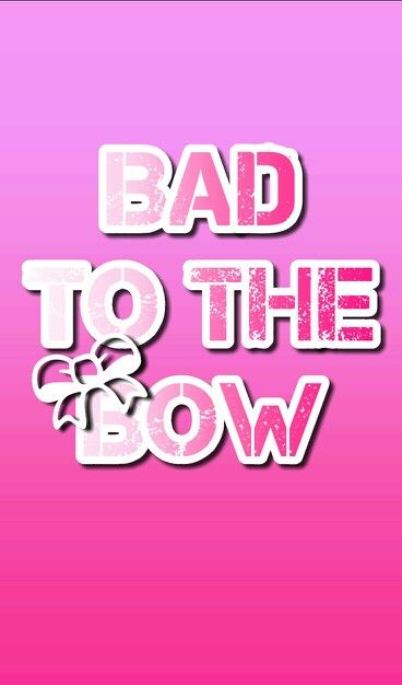 Bad To The Bow Cheerleader Wallpaper In Pink Cheerleading Quotes Cute Screen Savers Cheerleading