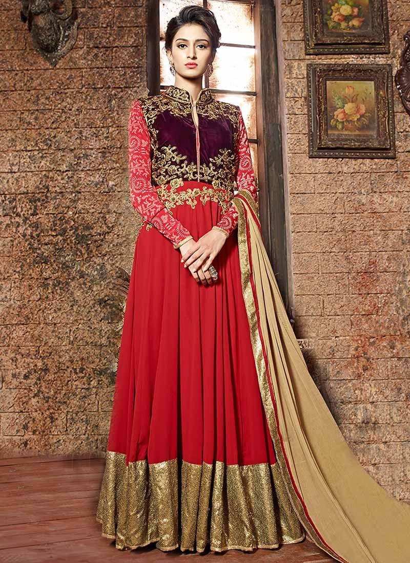 fe3e0a3117 Ž QûeêŃ♥ Indian Dresses Online, Anarkali Suits, Anarkali Frock, Indian  Attire,
