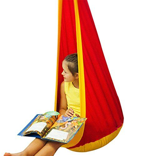 jiyaru hammock pod kids swing childrens hammock chair nook hanging seat hammock nest for indoor and jiyaru hammock pod kids swing childrens hammock chair nook hanging      rh   pinterest