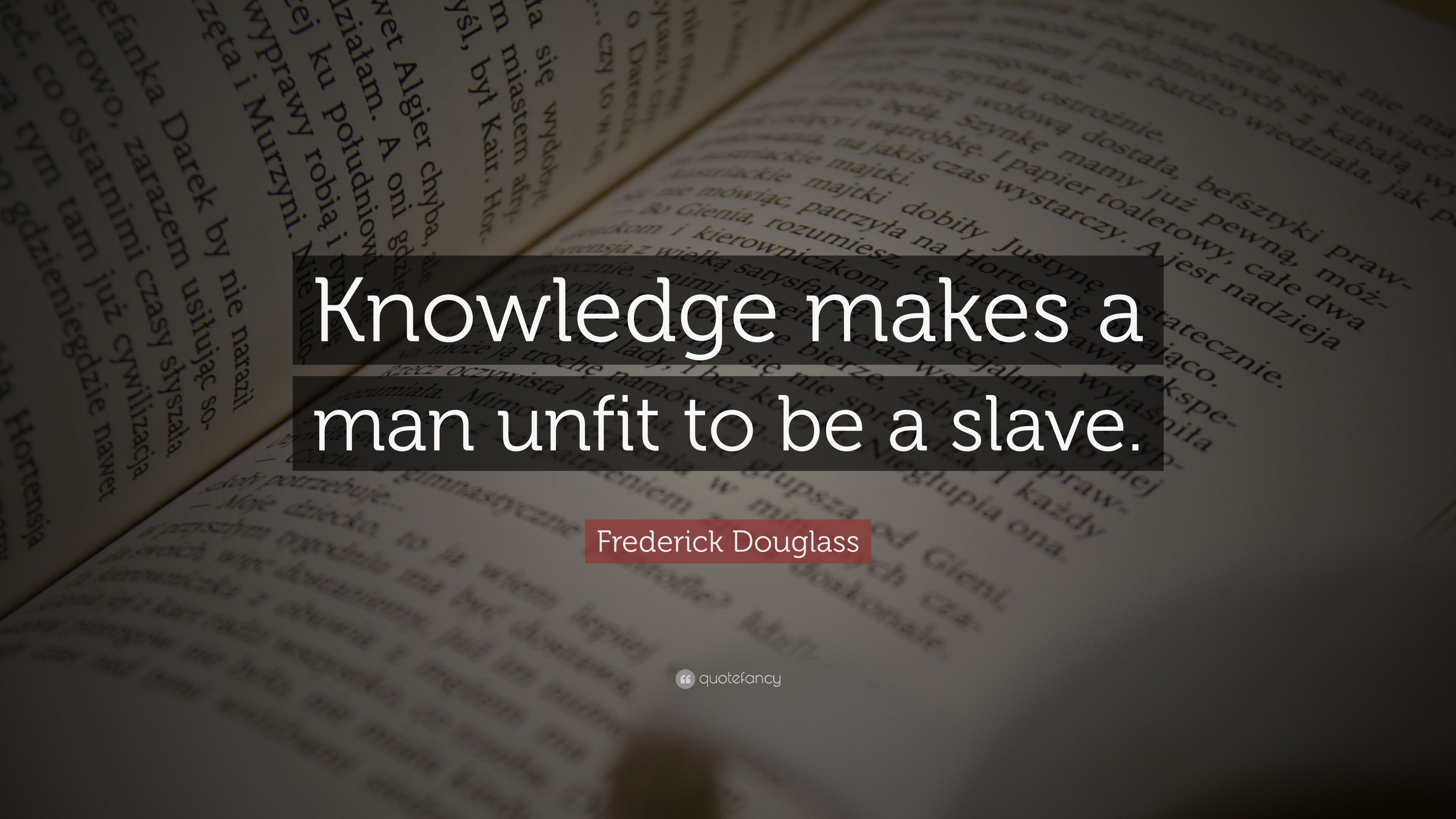In honor of the start of Black History Month and his birth (Feb 1818) and death (February 20, 1895), here's a quote from Frederick Douglass.