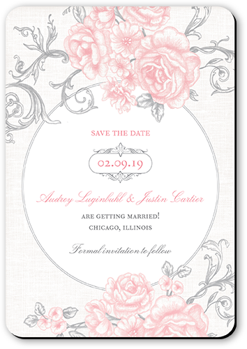 Antique Rose Scrolls Save The Date Cards in 2019 | Products