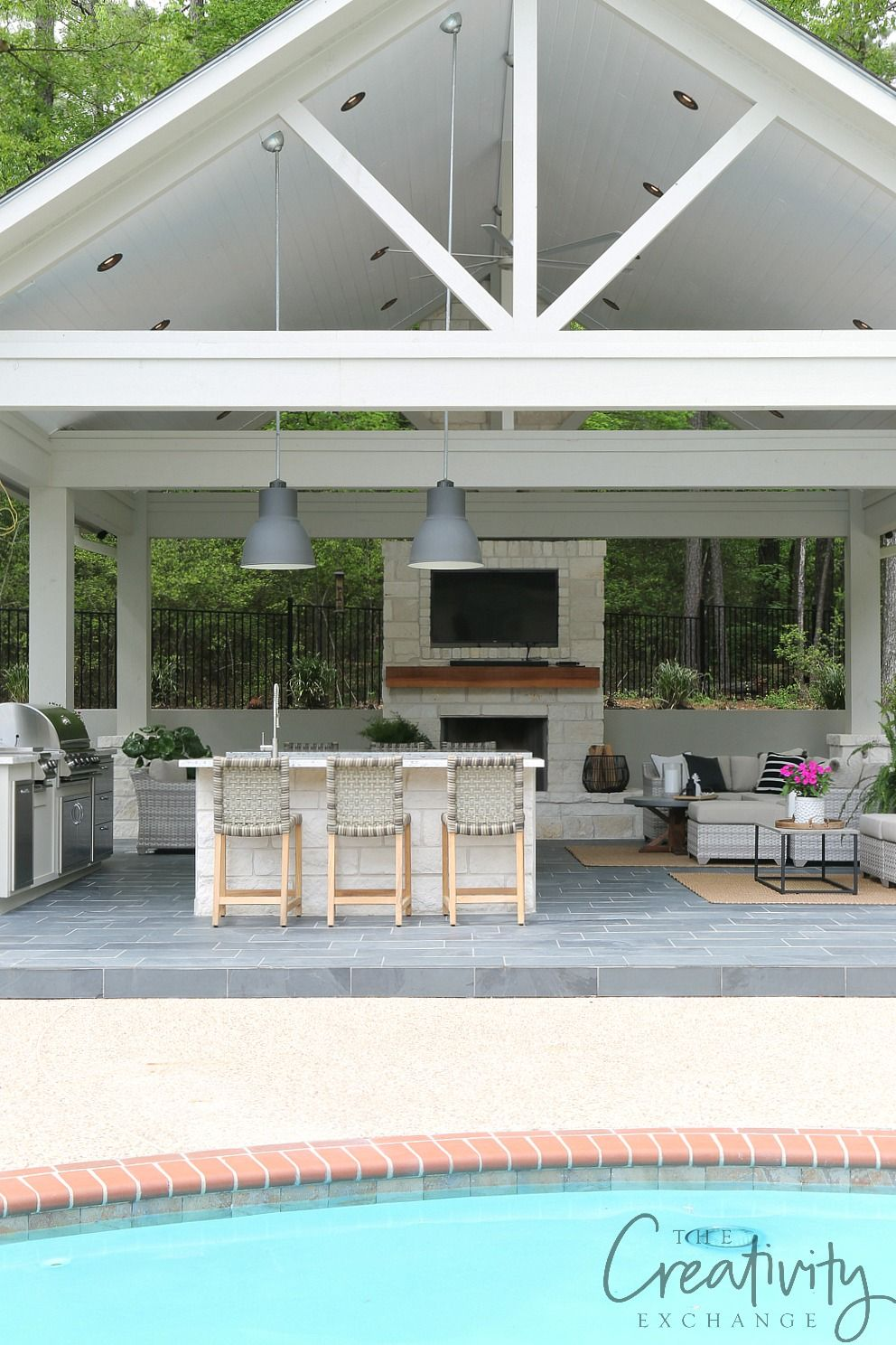 Outdoor Kitchen And Pool House Project Reveal Outdoor Kitchen Design Layout Outdoor Living Space Design Pool Houses